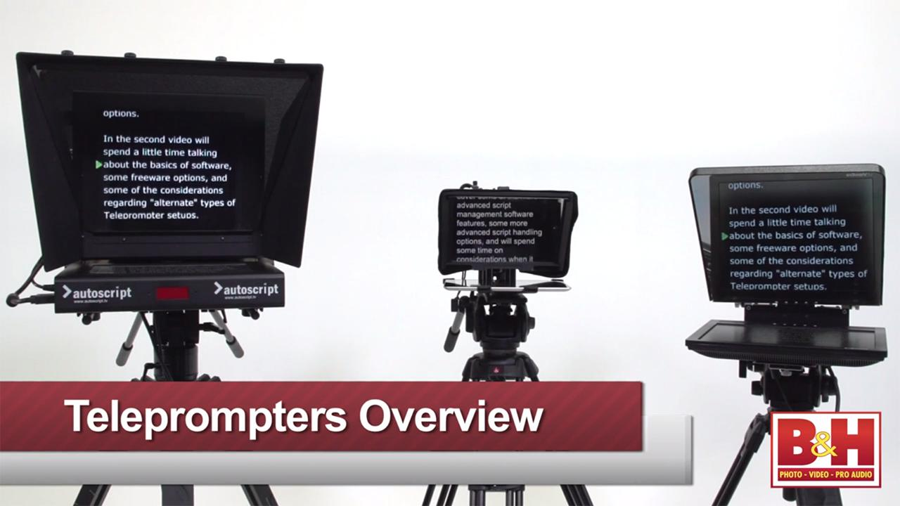 Teleprompter Overview Part 1: Basic Terms & Series Overview