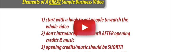 Simple Formula for Great Money-Making Videos